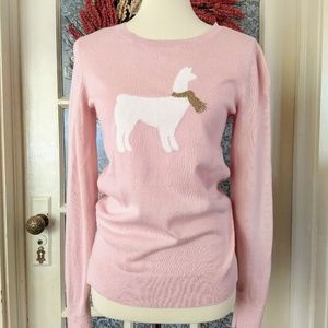 NWOT Adorable Blush LLama Crewneck Sweater!